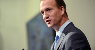 Mar 7, 2016; Englewood, CO, USA; Denver Broncos quarterback Peyton Manning speaks during his retirement announcement press conference at the UCHealth Training Center. Mandatory Credit: Ron Chenoy-USA TODAY Sports