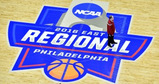 Mar 24, 2016; Philadelphia , PA, USA; Wisconsin Badgers head coach Greg Gard looks on during practice the day before the semifinals of the East regional of the NCAA Tournament at Wells Fargo Center. Mandatory Credit: Bob Donnan-USA TODAY Sports
