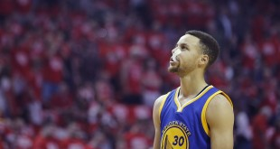 Apr 24, 2016; Houston, TX, USA; Golden State Warriors guard Stephen Curry (30) looks on before playing against the Houston Rockets in the first quarter in game four of the first round of the NBA Playoffs at Toyota Center. Mandatory Credit: Thomas B. Shea-USA TODAY Sports