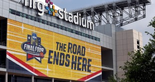Mar 31, 2016; Houston, TX, USA; A general view of signs and NRG Stadium before the Final Four. Mandatory Credit: Peter Casey-USA TODAY Sports
