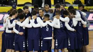 Apr 1, 2016; Houston , TX, USA; Villanova Wildcats head coach Jay Wright speaks with his team during practice for the 2016 Men's Final Four at NRG Stadium. Mandatory Credit: Troy Taormina-USA TODAY Sports