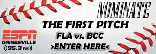 ESPN Gainesville First Pitch Giveaway