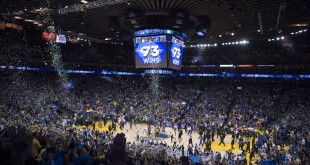 April 13, 2016; Oakland, CA, USA; General view of Oracle Arena after the game between the Golden State Warriors and the Memphis Grizzlies at Oracle Arena. The Warriors defeated the Grizzlies 125-104. Mandatory Credit: Kyle Terada-USA TODAY Sports