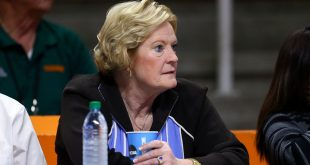 Mar 21, 2015; Knoxville, TN, USA; Tennessee Lady Volunteers head coach emeritus Pat Summitt in the first round of the women's NCAA Tournament against the Boise State Broncos at Thompson-Boling Arena. Mandatory Credit: Randy Sartin-USA TODAY Sports
