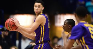 Mar 12, 2016; Nashville, TN, USA; LSU Tigers forward Ben Simmons (25) controls the ball in the first half against the Texas A&M Aggies during the SEC conference tournament at Bridgestone Arena. Mandatory Credit: Christopher Hanewinckel-USA TODAY Sports