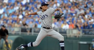 Jun 1, 2016; Kansas City, MO, USA; Tampa Bay Rays starting pitcher Chris Archer (22) delivers a pitch against the Kansas City Royals in the first inning at Kauffman Stadium. Mandatory Credit: John Rieger-USA TODAY Sports