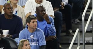 Apr 4, 2016; Houston, TX, USA; NBA former player Michael Jordan looks on during the first half between the Villanova Wildcats and the North Carolina Tar Heels in the championship game of the 2016 NCAA Men's Final Four at NRG Stadium. Mandatory Credit: Troy Taormina-USA TODAY Sports