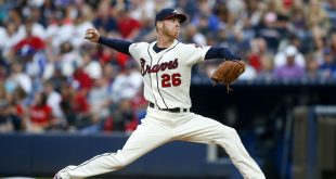 Jul 16, 2016; Atlanta, GA, USA; Atlanta Braves starting pitcher Mike Foltynewicz (26) throws a pitch against the Colorado Rockies in the fourth inning at Turner Field. Mandatory Credit: Brett Davis-USA TODAY Sports