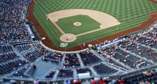 Jul 17, 2016; Washington, DC, USA; A general view of the game between the Washington Nationals and the Pittsburgh Pirates in the fourteenth inning at Nationals Park. The Pirates won 2-1 in eighteen innings. Mandatory Credit: Geoff Burke-USA TODAY Sports