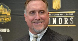 Feb 6, 2016; San Francisco, CA, USA; Kevin Greene at press conference to announce the Pro Football Hall of Fame Class of 2016 at Bill Graham Civic Auditorium. Mandatory Credit: Kirby Lee-USA TODAY Sports