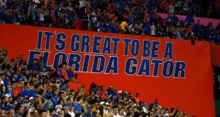 "Sep 5, 2015; Gainesville, FL, USA; A general view of a ""Its Great to be a Florida Gator""  sign in the Swamp where the  Florida Gators play the New Mexico State Aggies during the second half at Ben Hill Griffin Stadium. Mandatory Credit: Kim Klement-USA TODAY Sports"