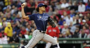 Jul 8, 2016; Boston, MA, USA; Tampa Bay Rays starting pitcher Chris Archer (22) pitches during the first inning against the Boston Red Sox at Fenway Park. Mandatory Credit: Bob DeChiara-USA TODAY Sports