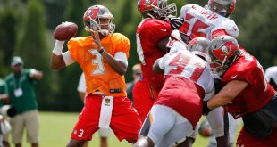 Jul 30, 2016; Tampa, FL, USA; Tampa Bay Buccaneers quarterback Jameis Winston (3) works out at One Buccaneer Place. Credit: Kim Klement-USA TODAY Sports