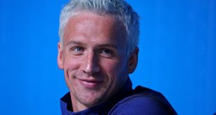 Aug 3, 2016; Rio de Janeiro, USA; USA swimmer Ryan Lochte during a press conference at the MPC Samba Room prior to the 2016 Rio Olympic Games. Mandatory Credit: Peter Casey-USA TODAY Sports