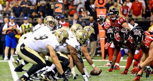 Oct 15, 2015; New Orleans, LA, USA; New Orleans Saints quarterback Drew Brees (9) against the Atlanta Falcons during the first half of a game at the Mercedes-Benz Superdome. Mandatory Credit: Derick E. Hingle-USA TODAY Sports