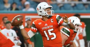 Sep 3, 2016; Miami Gardens, FL, USA;  Miami Hurricanes quarterback Brad Kaaya (15) attempts a pass against the Florida A&M Rattlers during the first half at Hard Rock Stadium. Mandatory Credit: Jasen Vinlove-USA TODAY Sports