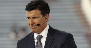 Sep 4, 2016; Austin, TX, USA;  ESPN analyst Rece Davis before the game between the Texas Longhorns and the Notre Dame Fighting Irish at Darrell K Royal-Texas Memorial Stadium. Mandatory Credit: Kevin Jairaj-USA TODAY Sports