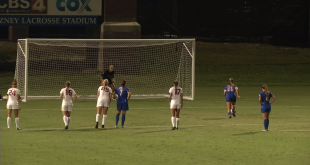 Florida's Meggie Dougherty Howard shoots a penalty kick in a match against Alabama. October 20, 2016.