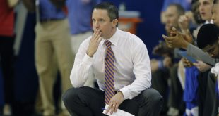 Feb 23, 2016; Gainesville, FL, USA; Florida Gators head coach Mike White watches the action during the first half of a basketball game against the Vanderbilt Commodores at the Stephen C. O'Connell Center. Mandatory Credit: Reinhold Matay-USA TODAY Sports