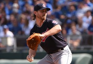 Cleveland Indians Game 3 starting pitcher Josh Tomlin will try to lead The Indians to a sweep over The Boston Red Sox --John Rieger-USA TODAY Sports