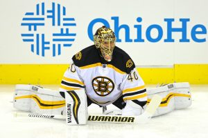 Tuukka Rask (40) made 24 saves in shutout effort vs. The Red Wings Saturday Aaron Doster-USA TODAY