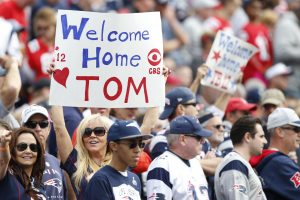 Tom Brady made his return to Foxboro--Greg M. Cooper-USA TODAY Sports