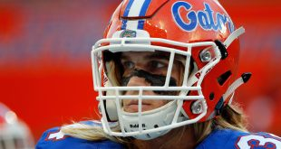 Sep 17, 2016; Gainesville, FL, USA; Florida Gators linebacker Alex Anzalone (34)  works out prior to the game against the North Texas Mean Green at Ben Hill Griffin Stadium. Mandatory Credit: Kim Klement-USA TODAY Sports