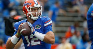Oct 15, 2016; Gainesville, FL, USA; Florida Gators quarterback Austin Appleby (12) works out prior to the game at Ben Hill Griffin Stadium. Mandatory Credit: Kim Klement-USA TODAY Sports