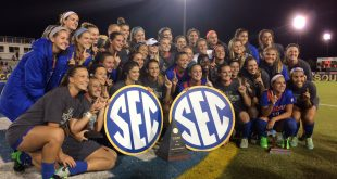 The Florida Soccer team won the SEC Tournament against Arkansas in overtime for their second title in a row and their 12th in program history. November 6, 2016