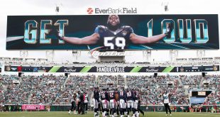 Oct 18, 2015; Jacksonville, FL, USA; game action during the second half of  a football game between the Jacksonville Jaguars and the Houston Texans at EverBank Field. Mandatory Credit: Reinhold Matay-USA TODAY Sports