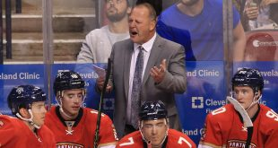 Oct 13, 2016; Sunrise, FL, USA;  Florida Panthers head coach Gerard Gallant reacts in the third period of a game against the New Jersey Devils at BB&T Center. Mandatory Credit: Robert Mayer-USA TODAY Sports