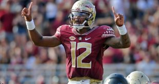 Oct 15, 2016; Tallahassee, FL, USA;  Florida State Seminoles quarterback Deondre Francois (12) during the game against the Wake Forest Demon Deacons at Doak Campbell Stadium. Mandatory Credit: Melina Vastola-USA TODAY Sports