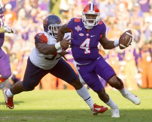 Clemson Tigers quarterback Deshaun Watson Joshua S. Kelly-USA TODAY