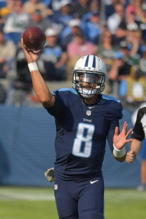 Tennessee Titans quarterback Marcus Mariota (8) --USA Today Sports