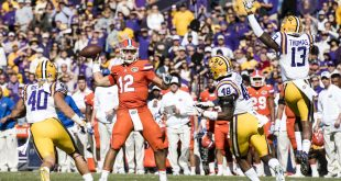 Nov 19, 2016; Baton Rouge, LA, USA; Florida Gators quarterback Austin Appleby (12) drops back to pass against the LSU Tigers defense during the first quarter at Tiger Stadium. Mandatory Credit: Jerome Miron-USA TODAY Sports