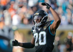 Dec 4, 2016; Jacksonville, FL, USA; Jacksonville Jaguars cornerback Jalen Ramsey (20) wants a flag thrown during the second half of an NFL football game against the Denver Broncos at EverBank Field. The Broncos won 20-10. Mandatory Credit: Reinhold Matay-USA TODAY Sports