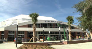 Exactech Arena at Stephen C. O'Connell Center new entrance.  Now faces Ben Hill Griffin Stadium.  Photo: Amanda Ploener