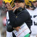 Michigan Wolverines head coach Jim Harbaugh during the third quarter of 30-27 loss vs. Ohio State. ---Joe Maiorana-USA TODAY