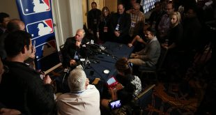 Dec 7, 2016; National Harbor, MD, USA; Baltimore Orioles manager Buck Showalter speaks with the media on day three of the 2016 Baseball Winter Meetings at Gaylord National Resort & Convention Center. Mandatory Credit: Geoff Burke-USA TODAY Sports