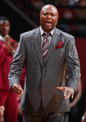 Dec 11, 2016; Tallahassee, FL, USA;Florida State Seminoles head coach Leonard Hamilton reacts in the first half against the Florida Gators at the Donald L. Tucker Center. Mandatory Credit: Phil Sears-USA TODAY Sports