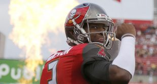 Dec 11, 2016; Tampa, FL, USA; Tampa Bay Buccaneers quarterback Jameis Winston (3) runs out of the tunnel before the game against the New Orleans Saints at Raymond James Stadium. Mandatory Credit: Kim Klement-USA TODAY Sports