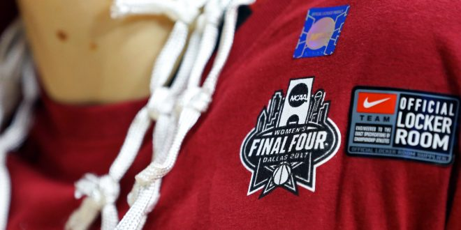 cheap for discount 21f21 7846c Mar 26, 2017 Lexington, KY, USA A view of the Womens NCAA Final Four  logo on the Nike shirt of a Stanford Cardinal after defeating the Notre Dame  ...