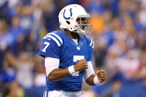 Colts will start former gator qb jacoby brissett again on sunday sep 17 2017 indianapolis in usa indianapolis colts quarterback jacoby brissett 7 reacts mandatory credit aaron doster usa today sports voltagebd Gallery