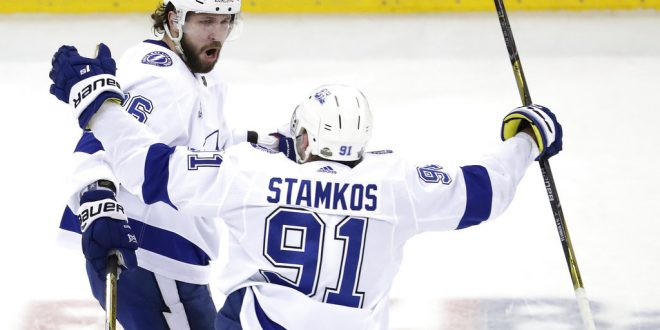 best website ae17a 3e064 Tampa Bay Lightning Take 3-1 Series Lead Over New Jersey Devils