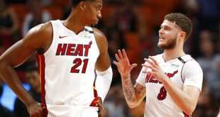 26c90d9b602b The Miami Heat clinched a playoff berth with a 101-98 win at home over the  Atlanta Hawks. Goran Dragic led the Heat with 22 points
