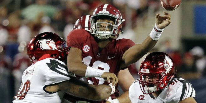 Saban finally names Tua Tagovailoa Alabama s staring QB - ESPN 98.1 ... 38f476182