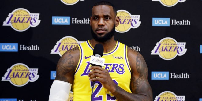 a0ab2e28d81 LeBron James First Impressions At Lakers Media Day - ESPN 98.1 FM ...