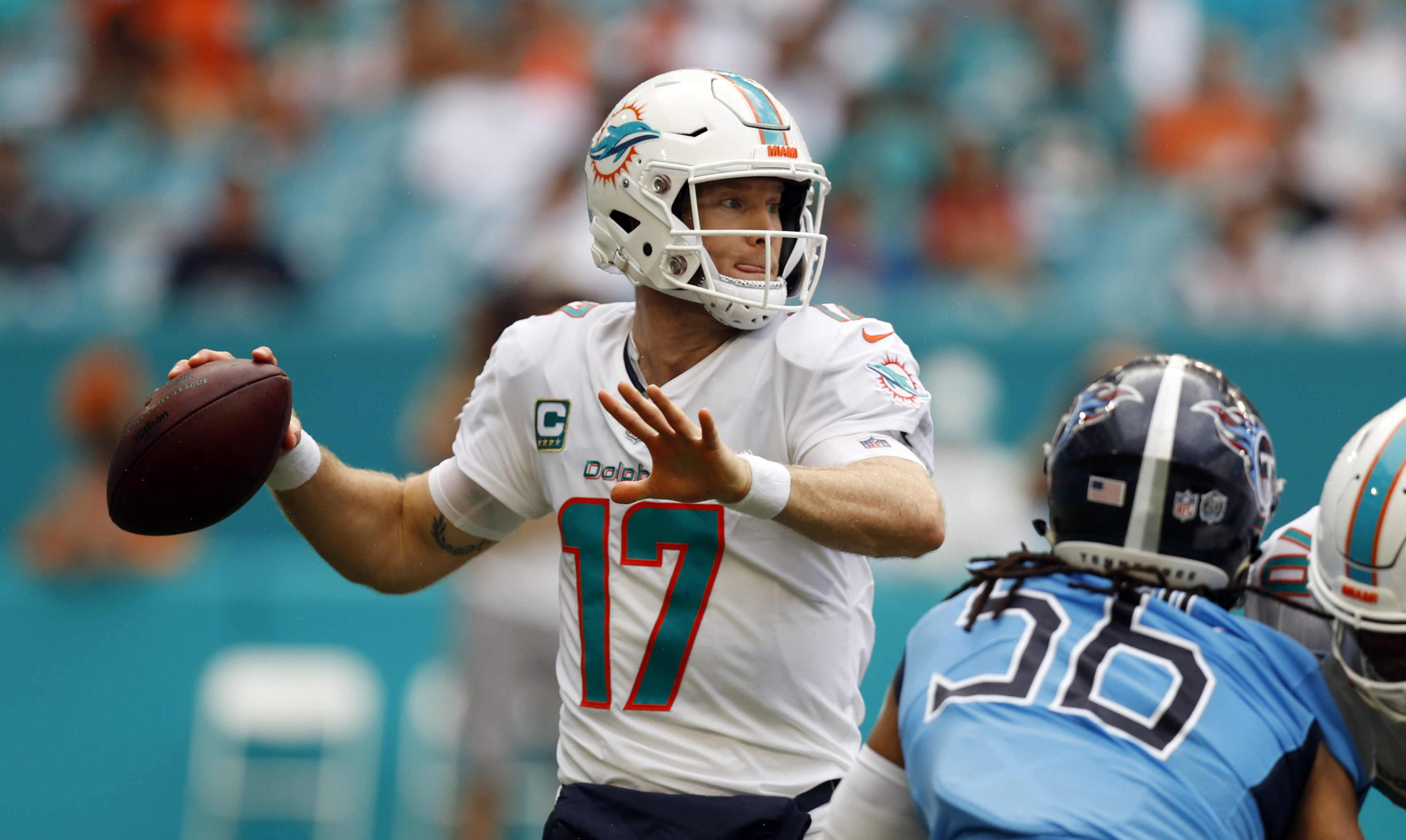 78840c096b8 Miami Dolphins Outlast Tennessee Titans 27-20 in Longest Game in NFL History
