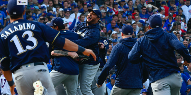 f0a6bcceb Milwaukee Brewers Defeat Chicago Cubs in National League Tie Breaker