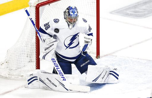 5c2a4e3ae9c NHL Recap  Lightning earn gritty 2-0 road win over Stars - ESPN 98.1 ...